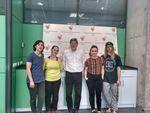 Alumnos de la Escuela Profesional de Danza cyl en Down Burgos